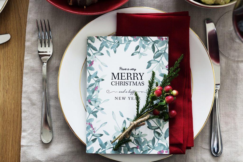 Menu du déjeuner de Noël 2018